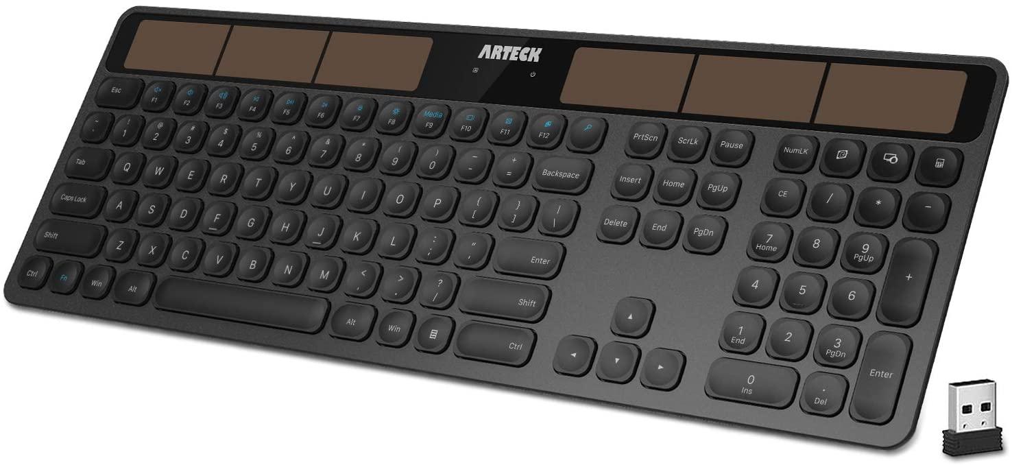 Arteck Wireless Solar Keyboard
