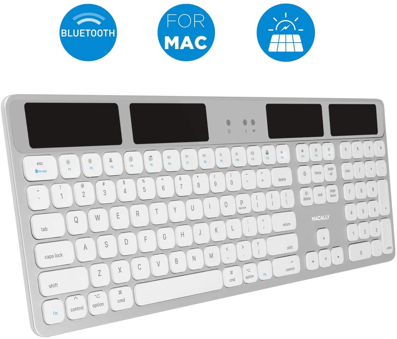 Macally Bluetooth Wireless Solar Keyboard